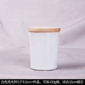 Diy Candle Cup Manual Wax Container Candle Glass Glass Candle Cup Candlestick Aromatherapy Candle candles jars happy birthday