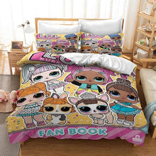 LOL Surprise Doll Bedding Set Duvet Cover and Pillowcase Home Textile Home Decoration Supplies for Children Birthday Gifts