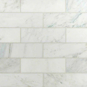 Carrara White 4x12 Polished Marble Tile