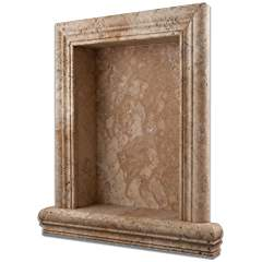 Philadelphia Travertine Hand-Made Honed Shampoo Niche / Shelf - LARGE