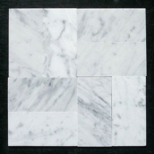 Carrara White Italian Carrera Marble Subway Tile 3 x 6 Polished