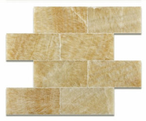 Honey Onyx 3 X 6 Polished Premium Brick / Subway Tile - Box of 5 sq. ft.