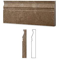 Noce Travertine Honed 5 X 12 Baseboard Trim Molding - 4
