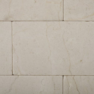 Crema Marfil Marble 3 X 6 Tumbled Brick Field Tile - Lot of 50 sq. ft.