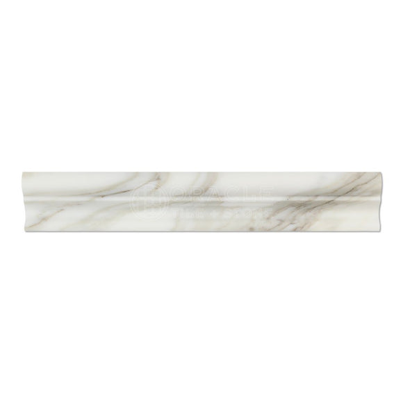 Calacatta Gold (Italian Calcutta) Marble Crown Mercer Molding Trim, Honed