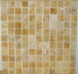 Honey Onyx Polished Mosaics Tiles 4x4 Sample of 1 X 1