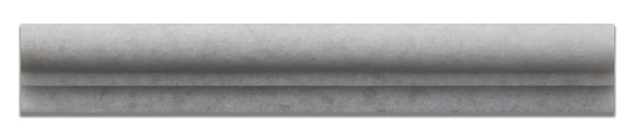 Crystal White Marble Honed 2 X 12 Chair Rail Ogee-1 Molding - Standard Quality - BOX of 15 PCS.