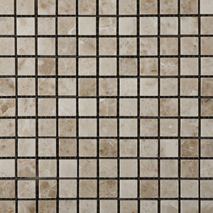 Cappuccino Marble 5/8 X 5/8 Polished Mosaic Tile Mesh - Lot of 50 sq. ft.