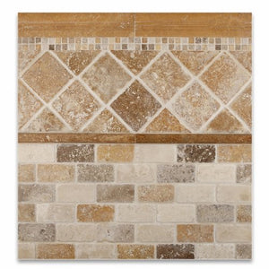 Gold / Yellow Travertine 5/8 X 5/8 Tumbled Mosaic Tile - Lot of 50 sq. ft.
