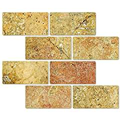 Scabos Travertine 3 X 6 Brick Tile, Tumbled - Box of 5 sq. ft.
