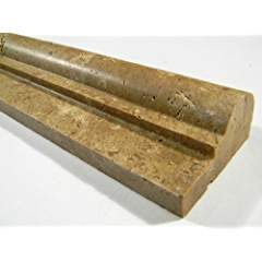 Noce Travertine Honed Ogee Chair Rail