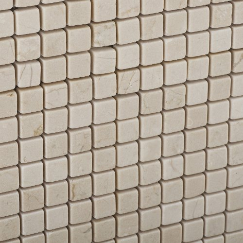 Crema Marfil Marble 5/8 X 5/8 Mosaic Tile, Tumbled - Lot of 50 sq. ft.
