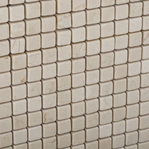 Crema Marfil Marble 5/8 X 5/8 Mosaic Tile, Tumbled - Box of 5 sq. ft.