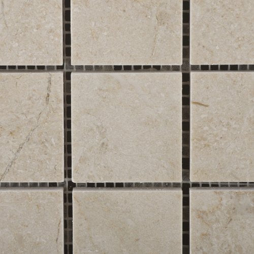 Crema Marfil Marble 2 X 2 Tumbled Mosaic Tile - Lot of 50 sq. ft.