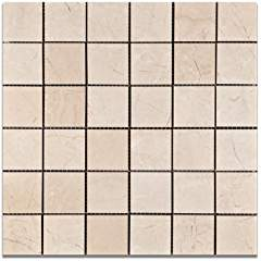 "Royal Beige Marble 2 X 2 Polished Mosaic Tile - 6"" X 6"" Sample"