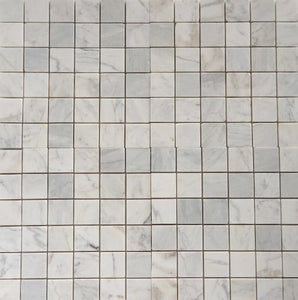 Bianco Venatino Marble 2X2 Polished Mosaic Tile - STANDARD QUALITY - Lot of 20 Sheets