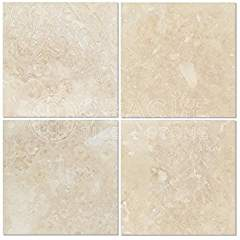 Ivory (Light) Travertine 6 X 6 Field Tile, Filled & Honed