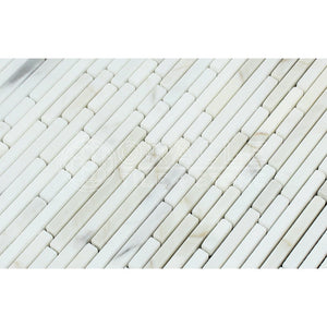 Calacatta Gold (Italian Calcutta) Marble Bamboo Sticks (Single color) Mosaic Tile, Polished