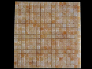 "Honey Onyx Mosaic 5/8""x5/8"" Polished - 10 sheets"