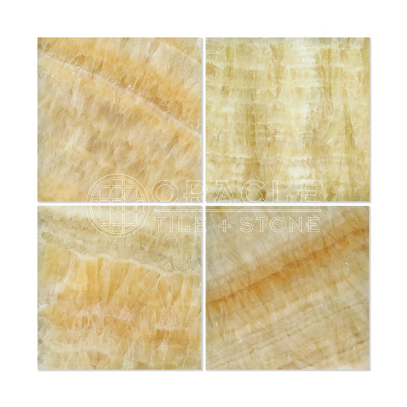 Honey Onyx 12 X 12 Polished Premium Field Tile (Box of 5 sq. ft.)