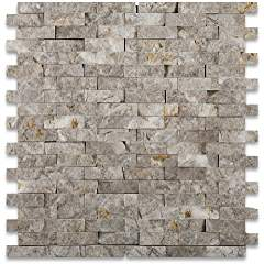 SILVERADO GRAY 5/8X2 Marble SPLIT-FACED Mosaic Tile
