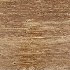 Noce Vein-Cut Travertine 18 X 18 Field Tile, Brushed & Unfilled (LOT of 20 PCS. (45 SQ. FT.))