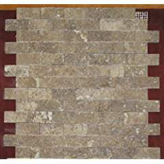 Split Face 1x2 Noce Noche Travertine For Kitchen Bathroom backsplash, exterior use