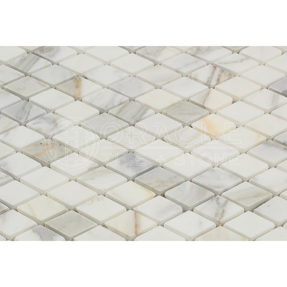 Calacatta Gold (Italian Calcutta) Marble Diamond - Rhomboid Mosaic Tile, Honed