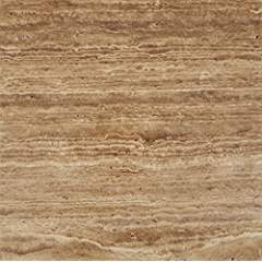 Noce Vein-Cut Travertine 12 X 12 Field Tile, Brushed & Unfilled (LOT of 5 SQ. FT.)