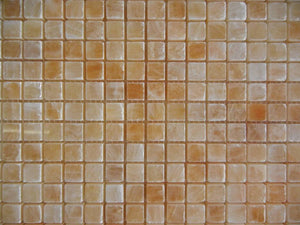 "Honey Onyx Mosaic 5/8""x5/8"" Polished"