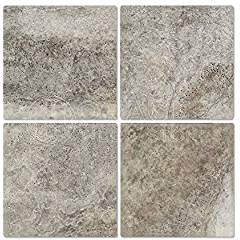 Silver Travertine 6 X 6 Field Tile, Tumbled (LOT of 50 SQ. FT.)