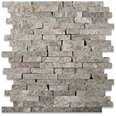 SILVERADO GRAY 5/8XRANDOM Marble SPLIT-FACED Mosaic Tile