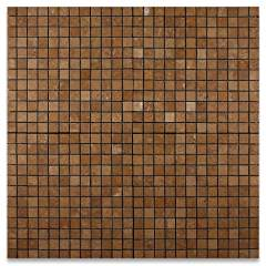 Noce 1X1 Travertine Tumbled Mosaic Tile