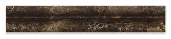 Emperador Dark Marble Polished 2 X 12 Crown Mercer Molding - 4