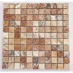 Scabos Travertine 1 X 1 Mosaic Tile, Polished