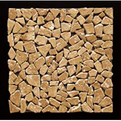 Noce Travertine Tumbled Random Pebble Mosaic Tile
