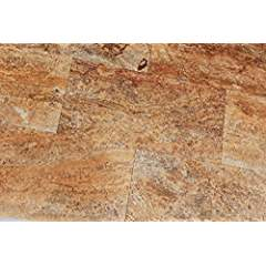 Scabos Travertine 12X24 Filled and POLISHED VEIN CUT Tiles - Premium Quality (LOT of 30 PCS. (60 SQ. FT.))
