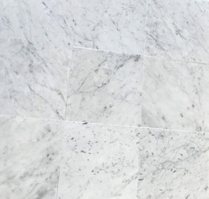 "Italian Carrara White (Bianco Carrara) Marble 12"" X 12"" Field Tile, Polished - A5 (Lot of264 pcs. (264 sq. ft.)"