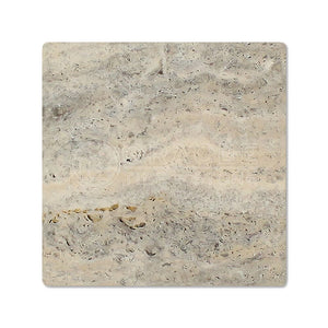 Silver Travertine 6 X 6 Field Tile, Tumbled (Small Sample)