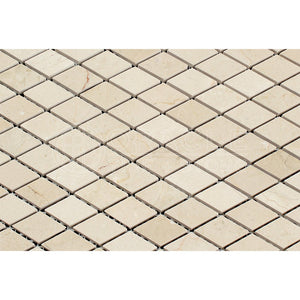 Crema Marfil Spanish Marble Diamond - Rhomboid Mosaic Tile, Polished