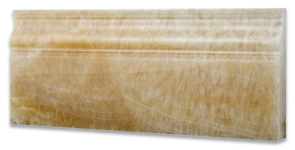 Honey Onyx Polished 5 X 12 Baseboard Trim Molding (4