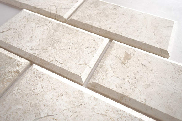 Diana Royal Marble 4X8 Deep - Beveled & Honed Subway Tile - STANDARD QUALITY - Lot of 14 Sq. Ft.