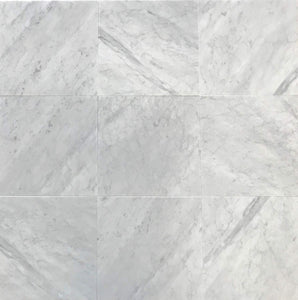"Italian Carrara White (Bianco Carrara) Marble 12"" X 12"" Field Tile, Polished - A3 (Lot of264 pcs. (264 sq. ft.)"