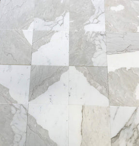 "Italian Calacatta Gold (Italian Calcutta) Marble 12"" X 12"" Field Tile, Honed - A23 (Lot of264 pcs. (264 sq. ft.)"