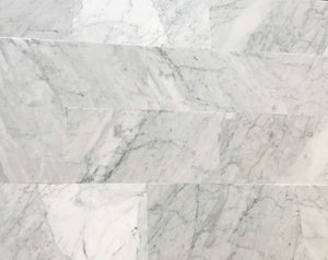 "Italian Carrara White (Bianco Carrara) Marble 12"" X 24"" Field Tile, Honed - A10 (Lot of 132 pcs. (264 sq. ft.)"