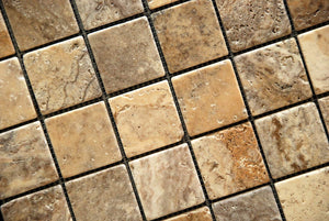 Philadelphia 2 X 2 Tumbled Travertine Mosaic Tile - Lot of 50 sq. ft.