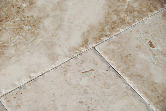 Cappuccino Marble ORDER Versailles Pattern Tiles, Brushed and Chiseled (Lot of 200 Sq. Ft. (25 Bundles)) For Sacremento