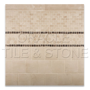 Crema Marfil Marble Polished Baby Brick Mosaic Tile - Lot of 50 sq. ft.