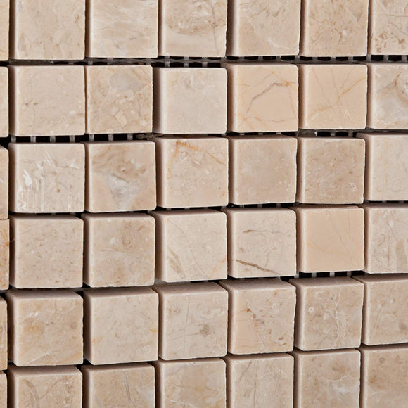 Bursa Beige / Sandy Beige Marble 5/8 X 5/8 Polished Mosaic Tile - 6