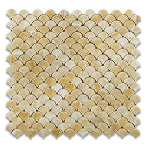 Honey Onyx Fan Mosaic Tile, Polished - Lot of 50 sq. ft.